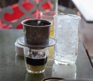 Vietnamese coffee with milk Royalty Free Stock Photos