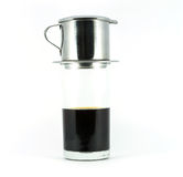 Vietnamese coffee on white background Royalty Free Stock Images