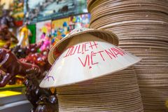 Vietnamese conical hats royalty free stock photography