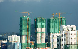 Vietnamese construction, apartment block Royalty Free Stock Photos