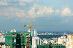 Vietnamese construction, apartment block Royalty Free Stock Photo