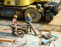 Vietnamese construction worker Stock Photography