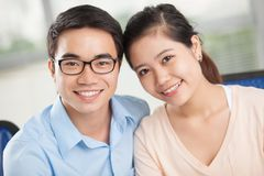 Vietnamese couple Royalty Free Stock Photos