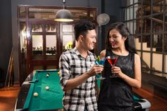 Vietnamese Couple In The Bar Stock Photos