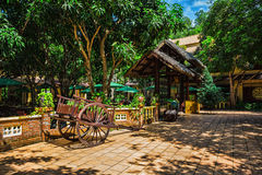 Vietnamese courtyard on the island Vinpearl Stock Photo