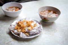 Vietnamese cuisine. Vietnamese banh cuon nong dish Stock Image