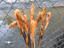 Vietnamese cuisine: grilled shrimp Stock Image