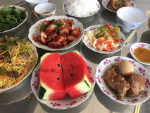 Vietnamese cuisine - meal for New Year Day in southern Vietnam Royalty Free Stock Photography