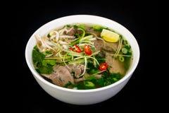 Free Vietnamese Cuisine Pho Bo Soup Royalty Free Stock Photos - 122521368