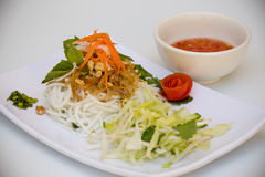 Vietnamese Cuisine - Rice Vermicelli with Shredded Pork Stock Image