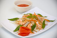 Vietnamese Cuisine - Salad with Prawns and Pork Stock Images