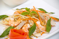 Vietnamese Cuisine - Salad with Prawns and Pork Stock Image