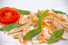 Vietnamese Cuisine - Salad with Prawns and Pork Stock Photo