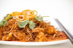 Vietnamese Cuisine - Sauté Frog Legs with Deep Fried Lemon Grass Stock Photo
