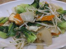 Vietnamese cuisine: vegetable stir-fry. Hanoi. stock photo