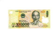 Vietnamese currency 100,000 dong banknote Stock Image