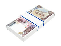 Vietnamese currency isolated on white backgroundon white background. Royalty Free Stock Photography