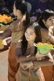 Vietnamese Dancers Royalty Free Stock Photography
