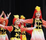 Vietnamese Dancers Stock Images