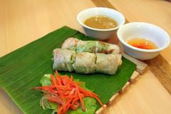 Vietnamese de lentebroodjes Stock Foto