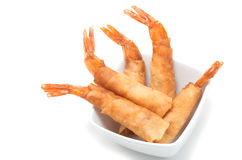 Vietnamese deep fried shrimps plate Royalty Free Stock Photos