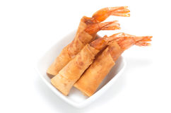 Vietnamese deep fried shrimps plate Royalty Free Stock Images