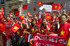 Vietnamese demonstration, London Stock Photos