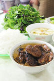 Vietnamese Dish Bun Cha - Series 4 Royalty Free Stock Photos