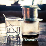 Vietnamese drip coffee Royalty Free Stock Photo