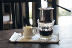 Vietnamese drip coffee Royalty Free Stock Image