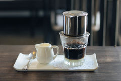 Vietnamese drip coffee Royalty Free Stock Images