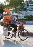 Vietnamese dustwoman, Saigon, Vietnam Royalty Free Stock Photo