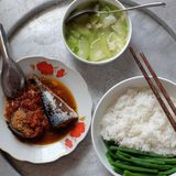 Vietnamese family daily meal royalty free stock image