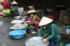 Vietnamese fish market Stock Photos