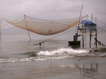 Vietnamese fisher. Fishing in Vietnam stock photo