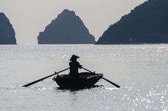 Vietnamese fisherman Stock Photos