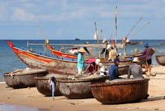 Vietnamese fishermen Stock Photo