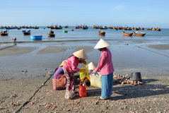 Vietnamese Fishermen Stock Photography