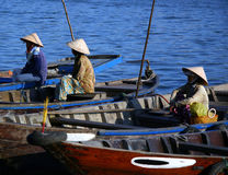 Vietnamese Fishermen Royalty Free Stock Photography