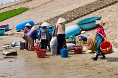 Vietnamese Fishermen Stock Photos