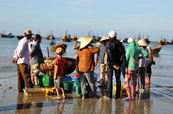 Vietnamese Fishermen Royalty Free Stock Photos