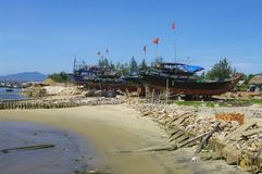 Vietnamese fishing boat in Lamparo Stock Photography