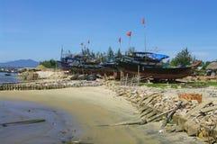 Vietnamese fishing boat in Lamparo Stock Photography