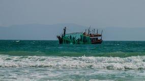 Vietnamese fishing boat Stock Photo