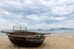 Vietnamese fishing boat Royalty Free Stock Images