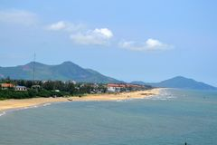 Vietnamese Fishing Village stock image