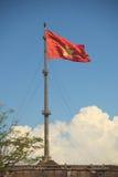 Vietnamese flag. At the citadel in Hue, vietnam Royalty Free Stock Photo