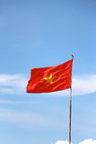 Vietnamese flag clear blue sky Stock Image
