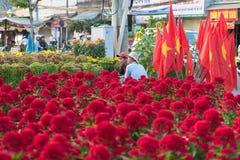 Vietnamese flowers sellers Royalty Free Stock Images