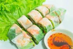 Vietnamese food. Pork & shrimp salad rolls Stock Photo
